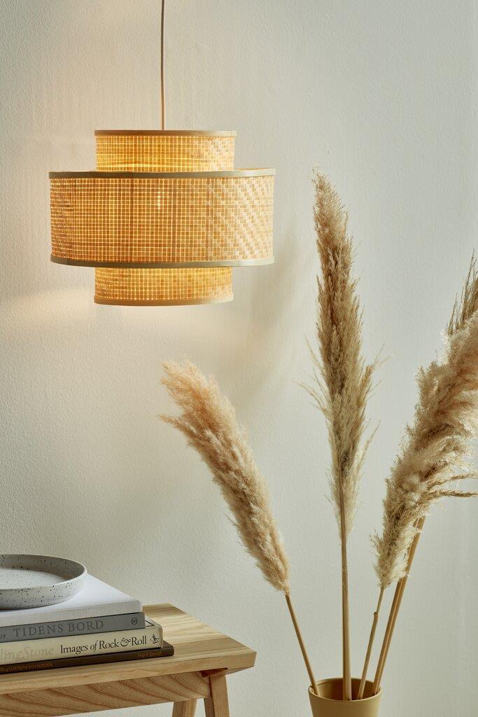 Nordlux Trinidad függő bambusz lámpa, bambusz függeszték lámpa, bambusz lámpabúra, bambusz lámpaernyő, skandináv design, skandináv stílus, világítás, lámpa, skandináv design lámpa, lakberendezés, skandináv lakberendezés