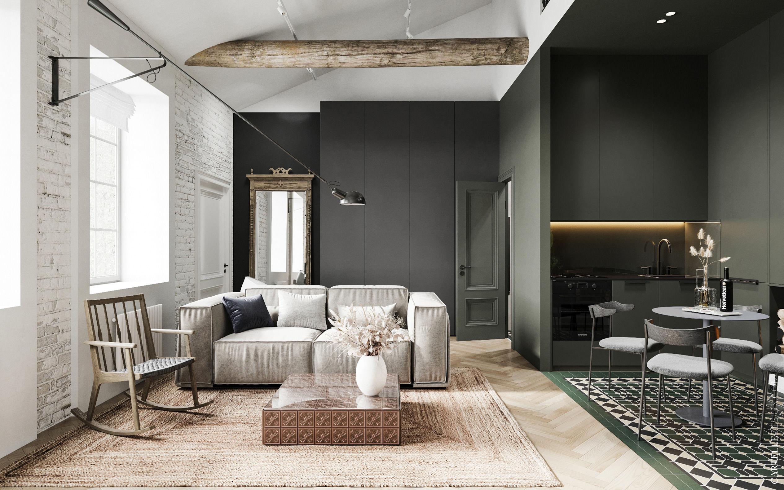 Minimál stílus, minimál design, modern stílus, modern design, minimál dizájn, modern dizájn, rusztikus design, rusztikus dizájn, lakásfelújítás, modern lakás, kis lakás, kis lakás galériával, lakásfelújítás ötlet, lakásfelújítás inspiráció, inspiráló felújított lakás, led világítás, lámpa, design lámpa, dizájn lámpa, világítás ötletek